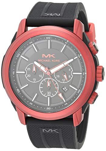 マイケルコース 腕時計 メンズ マイケル・コース アメリカ直輸入 【送料無料】Michael Kors Men's Stainless Steel Quartz Watch with Silicone Strap, Black, 24 (Model: MK8797)マイケルコース 腕時計 メンズ マイケル・コース アメリカ直輸入