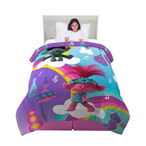 トロールズ アメリカ直輸入 アニメ 映画 ドリームワークス 【送料無料】Franco Kids Bedding Super Soft Microfiber Reversible Comforter, Twin/Full Size 72