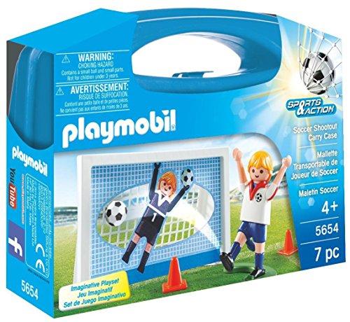 プレイモービル ブロック 組み立て 知育玩具 ドイツ 【送料無料】PLAYMOBIL Soccer Shootout Carry Caseプレイモービル ブロック 組み立て 知育玩具 ドイツ