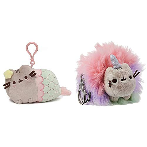 ガンド ぬいぐるみ リアル お世話 かわいい 【送料無料】GUND Pusheen Mermaid Star Cat Plush Stuffed Animal Backpack Clip, Multicolor, 4.5