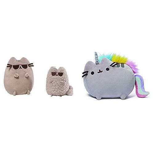 ガンド ぬいぐるみ リアル お世話 かわいい 【送料無料】GUND Pusheen and Stormy Sunglasses Plush Stuffed Animals, Collector Set of 2, Gray Bundle Pusheenicorn Plush Stuffed Animal Rainbow Cat Unicorn, 13