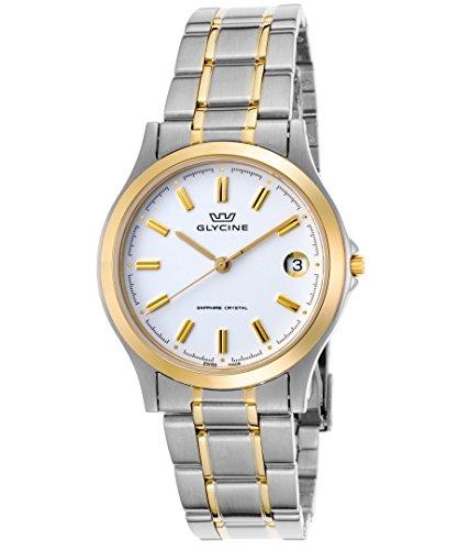 腕時計 グリシン スイスウォッチ メンズ グライシン 【送料無料】Glycine 3690-31-Sap-Mb Men's Stainless Steel and Gold-Tone Stainless Steel White Dial Ss Watch腕時計 グリシン スイスウォッチ メンズ グライシン