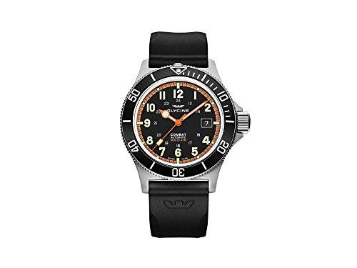 腕時計 グリシン スイスウォッチ メンズ グライシン 【送料無料】Glycine Combat Mens Analog Automatic Watch with Silicone Bracelet GL0088腕時計 グリシン スイスウォッチ メンズ グライシン