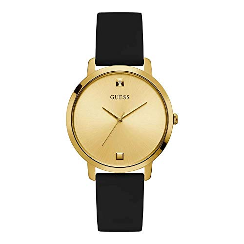 ゲス GUESS 腕時計 レディース 【送料無料】GUESS Women's Stainless Steel Analog Watch with Silicone Strap, Gold, 18 (Model: GW0004L1)ゲス GUESS 腕時計 レディース