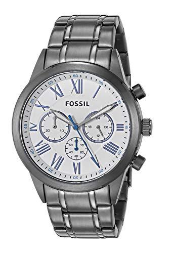 腕時計 フォッシル メンズ 【送料無料】Fossil Men's 48mm Flynn Chronograph Smoke-Tone Stainless Steel Watch BQ2232腕時計 フォッシル メンズ