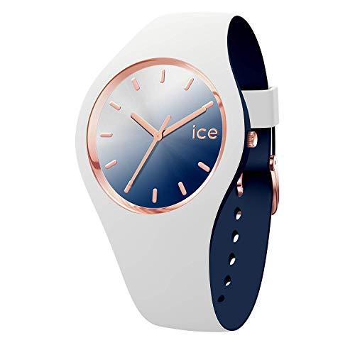 アイスウォッチ 腕時計 レディース かわいい 夏の腕時計特集 【送料無料】Ice-Watch - ICE duo chic White marine - Women's wristwatch with silicon strap - 016983 (Medium)アイスウォッチ 腕時計 レディース かわいい 夏の腕時計特集