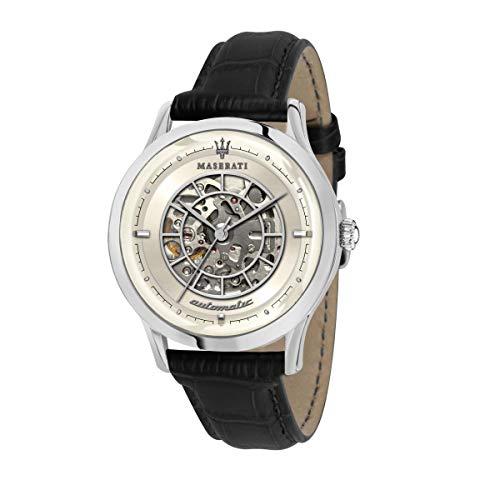 腕時計 マセラティ イタリア メンズ 【送料無料】Maserati ricordo Mens Analog Automatic Watch with Leather Bracelet R8821133005腕時計 マセラティ イタリア メンズ