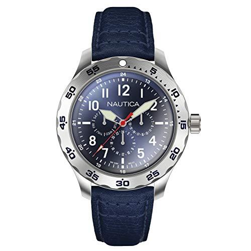 腕時計 ノーティカ メンズ 【送料無料】Nautica Men's Cruise Ncc01 Multi NAPNCI801 Blue Leather Quartz Fashion Watch腕時計 ノーティカ メンズ