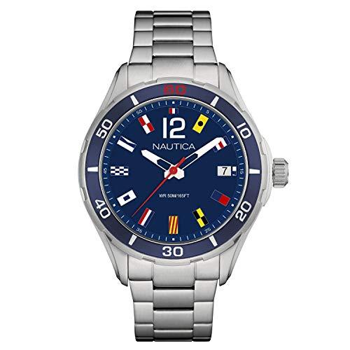 腕時計 ノーティカ メンズ 【送料無料】Nautica Men's Cruise NST 1 Flags NAPNSI805 Blue Stainless-Steel Quartz Fashion Watch腕時計 ノーティカ メンズ