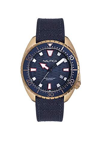 ノーティカ 腕時計 メンズ 【送料無料】Nautica Men's Hammock NAPHAS903 Blue Cloth Quartz Fashion Watchノーティカ 腕時計 メンズ