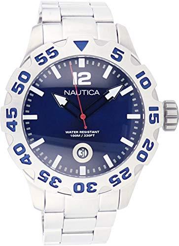ノーティカ 腕時計 メンズ 【送料無料】Nautica Steel Bracelet Marine Blue Dial Men's Watch #N17569Gノーティカ 腕時計 メンズ