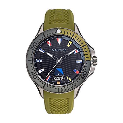 ノーティカ 腕時計 メンズ 【送料無料】Nautica Men's Pier 25 NAPP25F07 Green Silicone Quartz Fashion Watchノーティカ 腕時計 メンズ