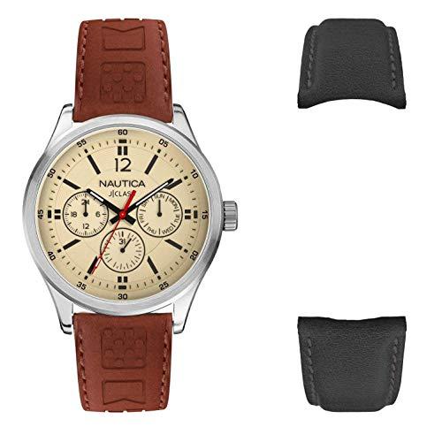 腕時計 ノーティカ メンズ 【送料無料】Nautica Men's Cruise Nct 1 NAPNTI806 Brown Leather Quartz Fashion Watch腕時計 ノーティカ メンズ