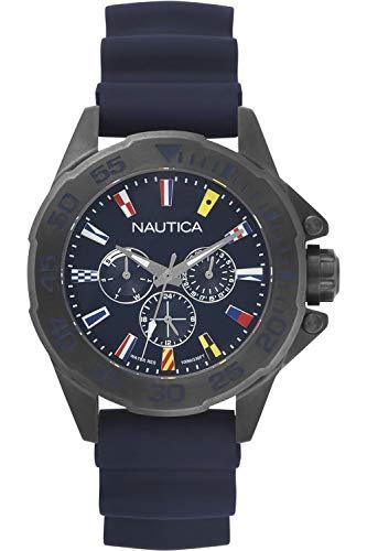 ノーティカ 腕時計 メンズ 【送料無料】Nautica maimi Flags Mens Analog Japanese Quartz Watch with Silicone Bracelet NAPMIA004ノーティカ 腕時計 メンズ