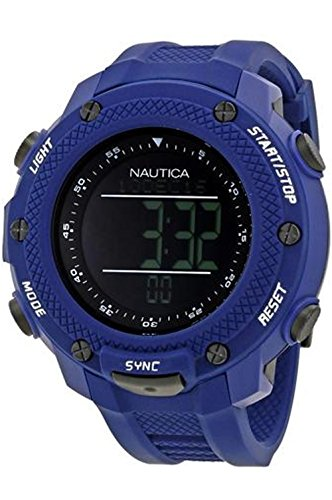 ノーティカ 腕時計 メンズ 【送料無料】nautica- nmx 15 Digital yachtimer Mens Digital Japanese Quartz Watch with Silicone Bracelet NAI19524Gノーティカ 腕時計 メンズ