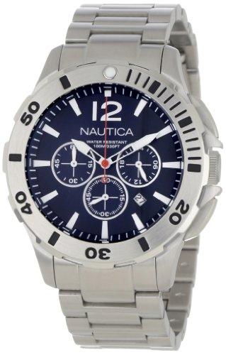 ノーティカ 腕時計 メンズ 【送料無料】Nautica Men's N23518G BFD 101 Sporty Stainless Steel Blue Leather Blue Dial Watch Box Setノーティカ 腕時計 メンズ