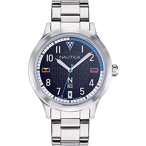 腕時計 ノーティカ メンズ 【送料無料】Nautica Men's Crissy Field 43mm Steel Bracelet & Case Quartz Blue Dial Analog Watch NAPCFS907腕時計 ノーティカ メンズ