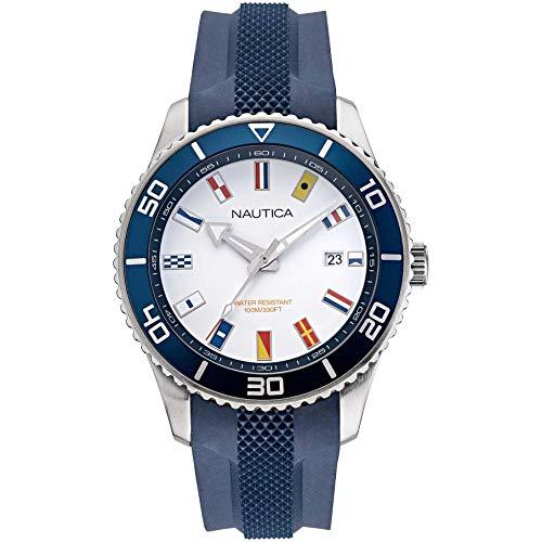腕時計 ノーティカ メンズ 【送料無料】Nautica Men's Pacific Beach NAPPBF914 Blue Silicone Quartz Fashion Watch腕時計 ノーティカ メンズ