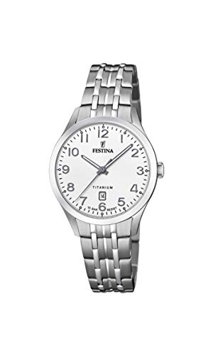 フェスティナ フェスティーナ スイス 腕時計 レディース 【送料無料】Festina Women's Quartz Watch with Titanium Strap, Silver, 15 (Model: F20468/1)フェスティナ フェスティーナ スイス 腕時計 レディース