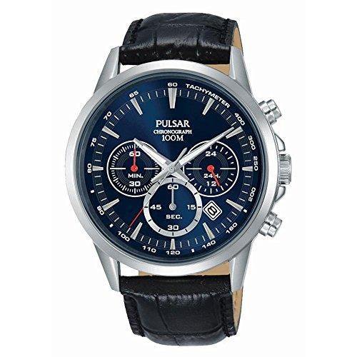 腕時計 パルサー SEIKO セイコー メンズ 【送料無料】Pulsar Active Mens Analog Quartz Watch with Leather Bracelet PT3921X1腕時計 パルサー SEIKO セイコー メンズ