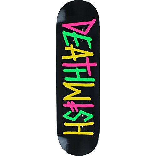 スタンダードスケートボード スケボー 海外モデル 直輸入 【送料無料】Deathwish Deathspray Multi Og Skateboard Deck -8.5 Black/Pink/Green/Yellow - Assembled AS Complete Skateboardスタンダードスケートボード スケボー 海外モデル 直輸入