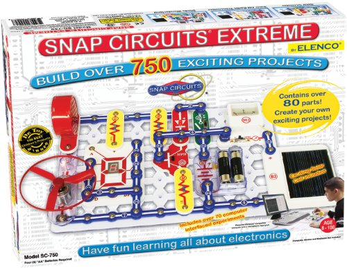 エレンコ ロボット 電子工作 知育玩具 パズル SC-750 Snap Circuits Extreme SC-750 Electronics Exploration Kit | Over 750 Projects | Full Color Project Manual | 80+ Snap Circuits Parts | STEM Educational エレンコ ロボット 電子工作 知育玩具 パズル SC-750