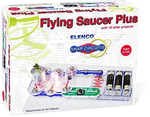 エレンコ ロボット 電子工作 知育玩具 パズル 【送料無料】Elenco Electronics Flying Saucer Plus Mini Kit by Elencoエレンコ ロボット 電子工作 知育玩具 パズル