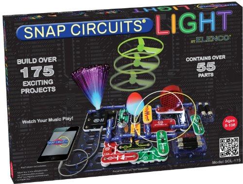 エレンコ ロボット 電子工作 知育玩具 パズル SCL-175B Elenco SCL-175B Snap Circuits Lights Electronics Discovery Kitエレンコ ロボット 電子工作 知育玩具 パズル SCL-175B