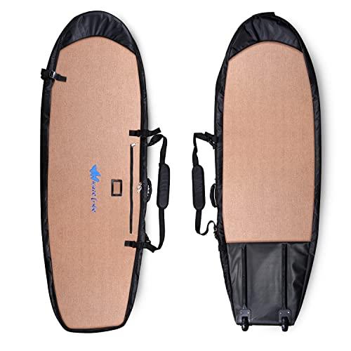 サーフィン ボードケース バックパック マリンスポーツ Wave Tribe Surfboard Travel Bag (Grizzly Bear Brown, 7'6 Shortboard)サーフィン ボードケース バックパック マリンスポーツ