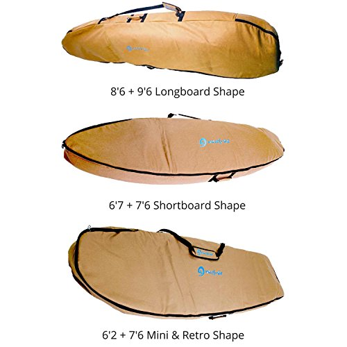 サーフィン ボードケース バックパック マリンスポーツ Wave Tribe Surfboard Travel Bag (Grizzly Bear Brown, 8'6 Longboard)サーフィン ボードケース バックパック マリンスポーツ