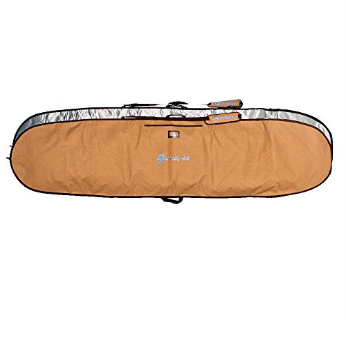 サーフィン ボードケース バックパック マリンスポーツ Wave Tribe Surfboard Bag - Hemp Boardbag Keeps Surfboard Cool + Alloy Reflection - Never Break Nickel Plated Zippers, 4 Pockets (Grizzly Bear Browサーフィン ボードケース バックパック マリンスポーツ