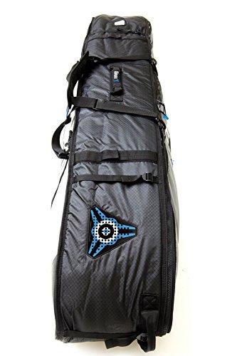サーフィン ボードケース バックパック マリンスポーツ Komunity Black Stormrider Triple/Quad Lightweight Traveler Boardbag - 7 Foot 6 Footサーフィン ボードケース バックパック マリンスポーツ
