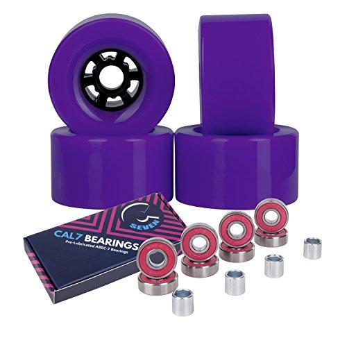 ウィール タイヤ スケボー スケートボード 海外モデル 【送料無料】Cal 7 83mm 78A Cruiser Skateboard Wheels, Longboard Flywheel (Solid Purple)ウィール タイヤ スケボー スケートボード 海外モデル