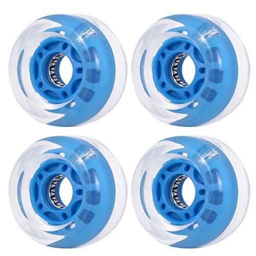 ウィール タイヤ スケボー スケートボード 海外モデル 【送料無料】CLISPEED 4pcs Flashing Scooter Wheels Replacement Skateboard Wheel for Outdoor Sports (Blue)ウィール タイヤ スケボー スケートボード 海外モデル