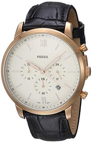腕時計 フォッシル メンズ 【送料無料】Fossil Men's Neutra FS5558 Rose-Gold Leather Japanese Quartz Fashion Watch腕時計 フォッシル メンズ