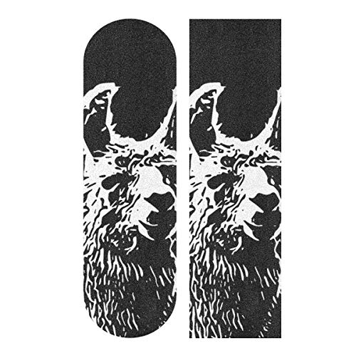 無料ラッピングでプレゼントや贈り物にも 逆輸入並行輸入送料込 デッキテープ グリップテープ 爆安 スケボー スケートボード 海外モデル 送料無料 Decopik Abstract Skateboard Grip Art Outline Sheet Longboard Griptapeデッキテープ Llama 18%OFF Tape Printed