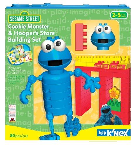 ケネックス 知育玩具 パズル ブロック 【送料無料】K'Nex Kid Sesame Street Cookie Monster and Hooper's Store Building Setケネックス 知育玩具 パズル ブロック