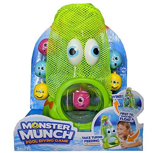 プール ビニールプール ファミリープール オーバルプール 家庭用プール 【送料無料】BANZAI Monster Munch Pool Dive Game, Fun and Easy Just Feed The Monster to Make It Float to The Toプール ビニールプール ファミリープール オーバルプール 家庭用プール