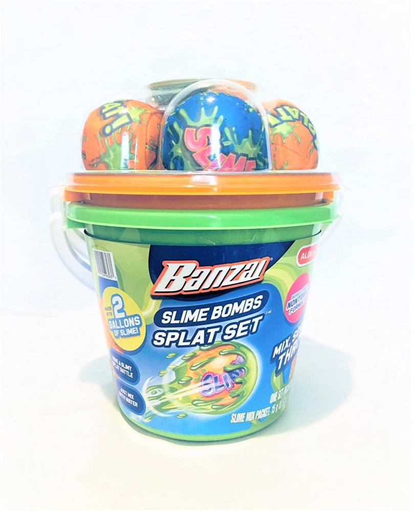 プール ビニールプール ファミリープール オーバルプール 家庭用プール 【送料無料】Banzai Slime Bombs Splat Set - 4 balls/2 gallons slimeプール ビニールプール ファミリープール オーバルプール 家庭用プール
