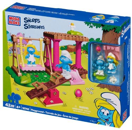メガブロック メガコンストラックス 組み立て 知育玩具 【送料無料】Mega Bloks Smurfs Playgroundメガブロック メガコンストラックス 組み立て 知育玩具