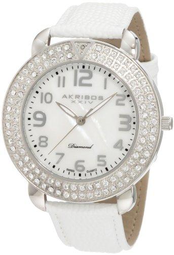 アクリボスXXIV 腕時計 メンズ 【送料無料】Akribos XXIV Men's AKR491SS Swiss Quartz Diamond Mother-of-Pearl WatchアクリボスXXIV 腕時計 メンズ