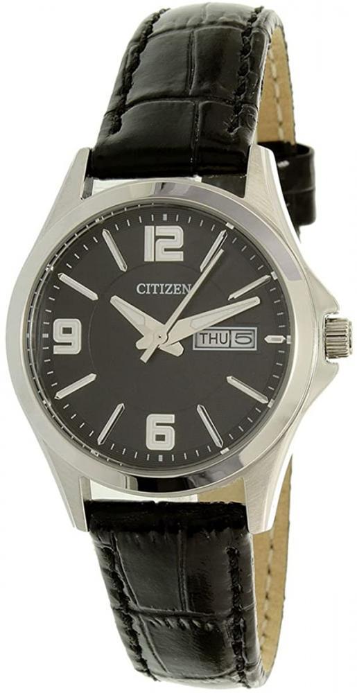 腕時計 シチズン 逆輸入 海外モデル 海外限定 【送料無料】Citizen Quartz Black Dial Black Leather Ladies Watch EQ0591-13E腕時計 シチズン 逆輸入 海外モデル 海外限定