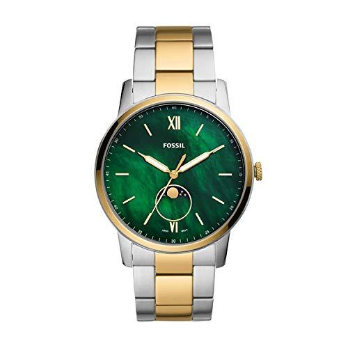 腕時計 フォッシル メンズ 【送料無料】Fossil Men's The Minimalist Moonphase Three-Hand Silver-Tone Stainless Steel Watch FS5572腕時計 フォッシル メンズ