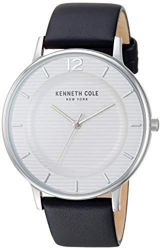 腕時計 ケネスコール・ニューヨーク Kenneth Cole New York メンズ 【送料無料】Kenneth Cole New York Men's Classic Stainless Steel Japanese-Quartz Watch with Leather Strap, Black, 20 (M腕時計 ケネスコール・ニューヨーク Kenneth Cole New York メンズ