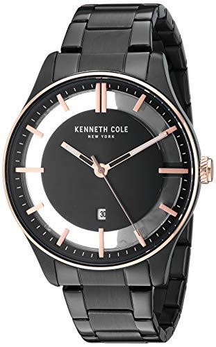 腕時計 ケネスコール・ニューヨーク Kenneth Cole New York メンズ 【送料無料】Kenneth Cole New York Men's Transparency Japanese-Quartz Watch with Stainless-Steel Strap, Black, 17.8 (Mo腕時計 ケネスコール・ニューヨーク Kenneth Cole New York メンズ