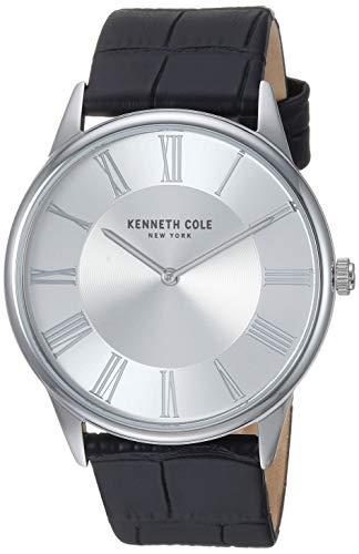 腕時計 ケネスコール・ニューヨーク Kenneth Cole New York メンズ 【送料無料】Kenneth Cole New York Men's Classic Stainless Steel Japanese-Quartz Watch with Leather Strap, Black, 22 (M腕時計 ケネスコール・ニューヨーク Kenneth Cole New York メンズ