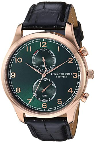 腕時計 ケネスコール・ニューヨーク Kenneth Cole New York メンズ 【送料無料】Kenneth Cole New York Men's Dress Sport Stainless Steel Japanese-Quartz Watch with Leather Strap, Green, 1腕時計 ケネスコール・ニューヨーク Kenneth Cole New York メンズ