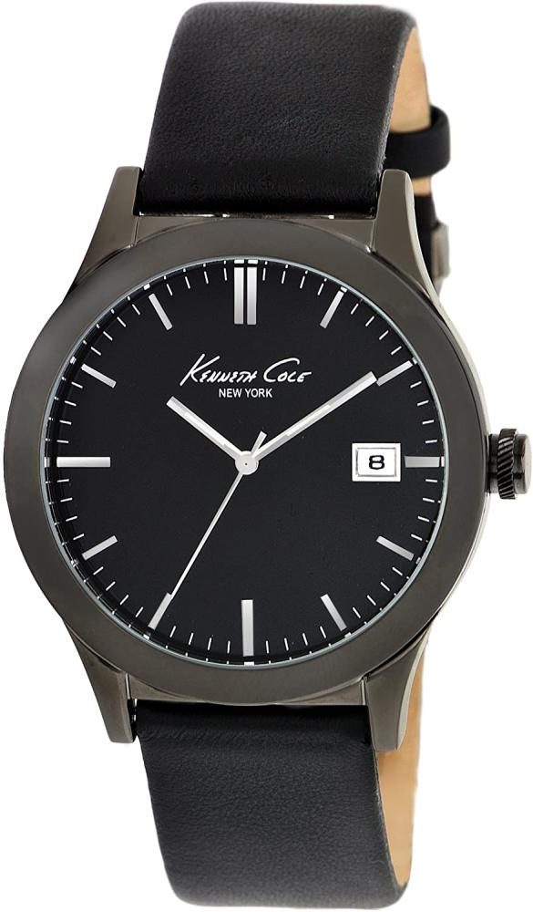 ケネスコール・ニューヨーク Kenneth Cole New York 腕時計 メンズ 【送料無料】Kenneth Cole New York Men's Japanese Quartz Stainless Steel Case Leather Strap Black,(Model: KC1854)ケネスコール・ニューヨーク Kenneth Cole New York 腕時計 メンズ