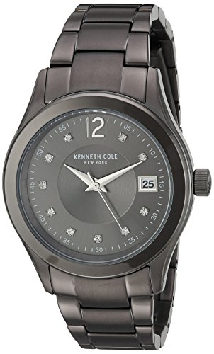 ケネスコール・ニューヨーク Kenneth Cole New York 腕時計 レディース 【送料無料】Kenneth Cole New York Women's Classic Japanese-Quartz Watch with Stainless-Steel Strap, Grey, 20 (ケネスコール・ニューヨーク Kenneth Cole New York 腕時計 レディース