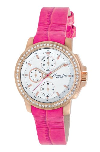 ケネスコール・ニューヨーク Kenneth Cole New York 腕時計 レディース 【送料無料】Kenneth Cole New York Women's Japanese Quartz Stainless Steel Case Leather Strap Pink,(Model:KC280ケネスコール・ニューヨーク Kenneth Cole New York 腕時計 レディース